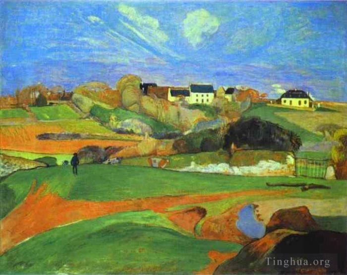 保罗·高更 的油画作品 - 《风景》