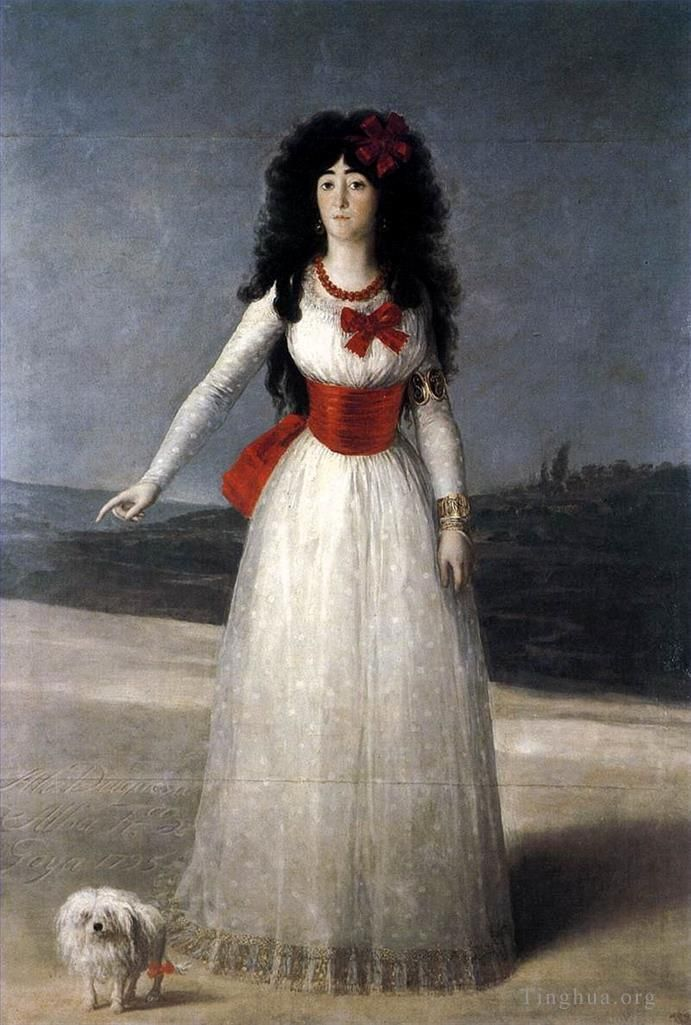 弗朗西斯科·戈雅 的油画作品 -  《Duchess of Alba》