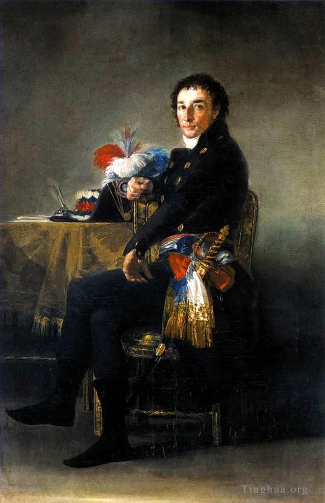 弗朗西斯科·戈雅 的油画作品 -  《Portrait of Ferdinand Guillemardet》